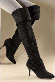 Ladies Black Microsuede Over Knee Boots @ Next Online now £9 lots of sizes
