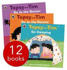 TOPSY & TIM 12 BOOK COLLECTION ONLY £9.99 (RRP £59.98) @ The Book People