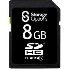 Storage Options SDHC Memory Card - 8GB - Class 6 £6.99 delivered @ 7dayshop