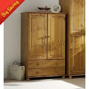 Kids Hampton Pine 2 Door Wardrobe with 2 Drawers £70 + P&P (Save £105) - Asda Direct