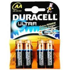 4 x Duracell Ultra MN1500 Alkaline AA Batteries £2.35 Delivered @ Amazon / Media-R-Us