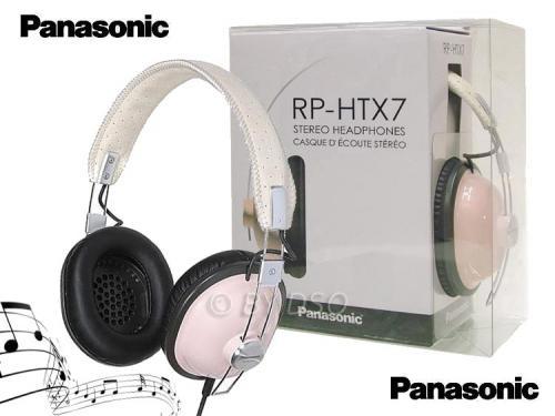 Panasonic RP-HTX7E-P Retro style headphones in Pink RRP £39.99 now £14.99 @play.com