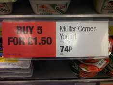 Muller Fruit Corners - 5 for £1.50 (normally 1 for 74p) @ Co-op!