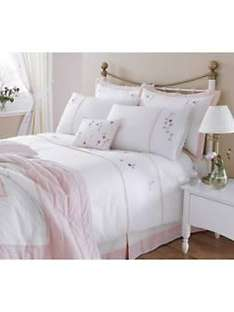 £7.50 Blossom Embroidered Duvet Cover Set (buy one get one FREE!) @ very
