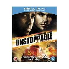 Unstoppable Triple Play (Blu-ray + DVD + Digital Copy) - £10 Delivered @ Amazon