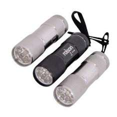 EXPIRED: 3 x Rolson aluminium 9-LED torches £3.30 at Amazon inc. batteries and delivery + better quality than similar pound shop torches