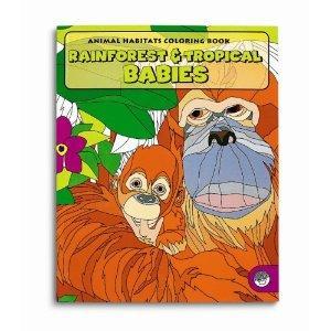 Animal Habitats Rainforest & Tropical Babies Colouring Book rrp £4 now £1.15 del @ Amazon
