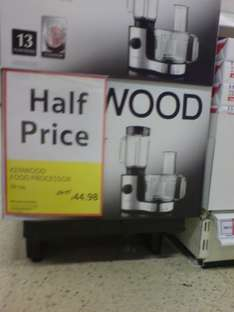 Kenwood food processor Half price -- Tesco from £89 to £44