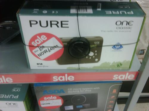 Pure One Classic DAB Radio - £42.50 (was £57.00) - Instore @ Asda