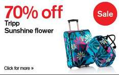 up to 70% off on suitcases @ tripp