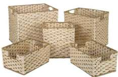 Maize leaf baskets (5 pack)  Homebase £12.00