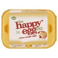happy eggs medium & large free range 6 eggs £1 at asda.com
