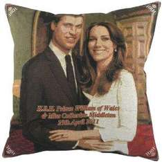Evans Lichfield Royal Wedding Tapestry Cushion, Standing, 18 x 18 inch @ £9.89 from £26.99 at amazon