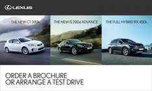 48 hour test drive LEXUS Hybrid Range