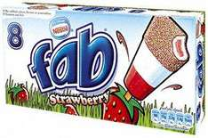 Nestle Fab Ice Lollies 8  Pack £1.05 at Tesco
