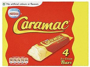 Caramac ice cream bars - 2 boxes (8 bars) for £1.50 at Heron
