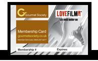 14 days free LOVEFiLM plus + 1 years free Gourmet Society Membership worth £69.95 + £15 cashback