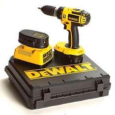 DeWalt 18V Ni-Cd Cordless Combi Drill, 2 x batteries and case was £179.99 now only £99.99 incl delivery @ Screwfix