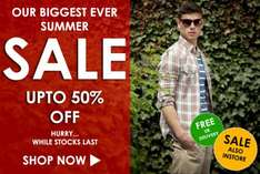Biggest ever summer sale @ Arc clothing. Free delivery. Up to 50% off.