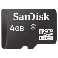 SanDisk 4GB Micro SD HC Memory Card NOW ONLY - £3.99 delivered @ Play.com