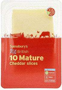 Sainsbury's Mature English Cheddar Slices (240g) for £1.00