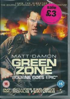 Green Zone Dvd, £3 instore and £2.99 online @ HMV