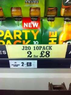 J20 10 pack - 2 for £8 at Farm Foods