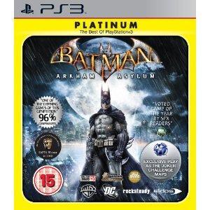 Batman: Arkham Asylum - Platinum (PS3)  reduced to £9.99 at  Amazon