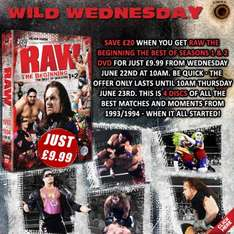 WWE RAW: The Beginning 4 Disc DVD - SilverVision WILD WEDNESDAY