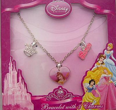 Disney Princess Charm Bracelet with 3 Charms £3.97 delivered @ Tesco Outlet
