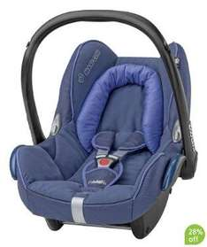 MaxiCosi CabrioFix Baby Car Seat (and a baby bath or similar £10 object!) £90.44 from Mothercare plus 5% Quidco