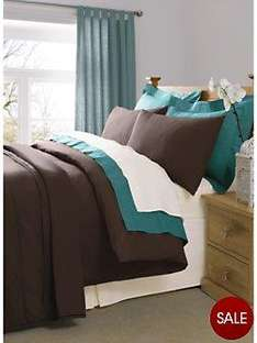 Easy Care Plain Dyed Fitted Bed Sheets - Single £1/Double £2/King £6/Super King £7 @ Very