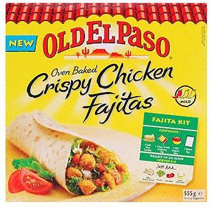 Old El Paso Kits - Crispy Chicken Fajita Kit , Enchilada Dinner Kit & Original Smoky BBQ Dinner Kit £2.99 BOGOF Tesco