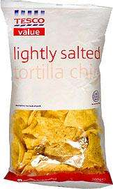 Tesco Value Lightly Salted Tortilla Chips (100g) 3 bags for 50p