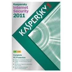 Kaspersky Internet Security 2011, 3 PC, 1 Year Subscription@ Amazon & £14.99