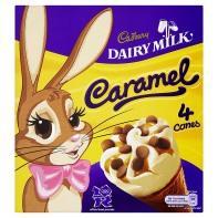 Cadbury Dairy Milk Caramel Cones  (4x100) £1 @ Asda