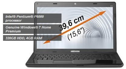 Medion Akoya E6215 Laptop - £291.00 delivered @ Medion