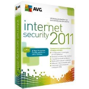 AVG internet security 2011 4user, 2yr supscription £19.97@amazon