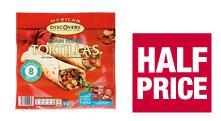 Discovery tortillas 81p, Discovery Mexican fajita seasoning mix 39p & Old El Paso fajita kits £1.49  at Co-op