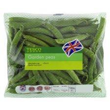 Fresh British Garden Peas 400g bags BOGOF £2.00 @ tesco