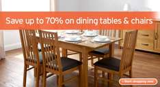 Sainsburys 'Bali' Extending Dining Table and 4 chairs £150.84 delivered plus Quidco