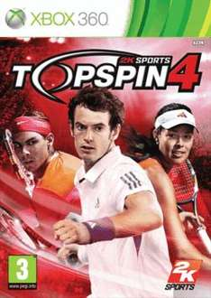 Top Spin 4 XBox 360, Wii and Ps3 £16.00 @ TESCO ENTERTAINMENT