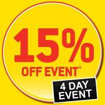 15% off everything when you spend £50+ Friday & Saturday instore @ Homebase