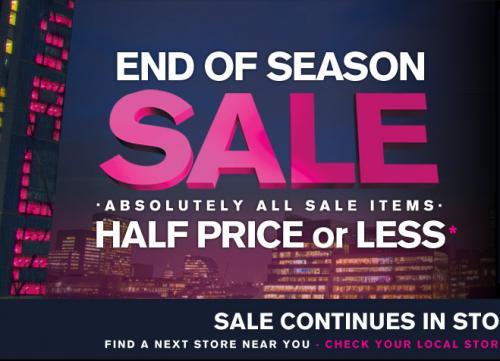 Next Sale - Starts Saturday 16th July
