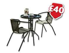 Morrisons Garden Furniture Reductions - Start Monday - Bigger items include - Florence Bistro Set  £20, A Frame Picnic Bench £22.50 - more in post