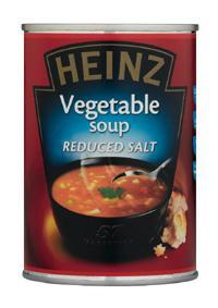 Heinz Reduced Salt Vegetable Soup 400g.   21p at ASDA Instore