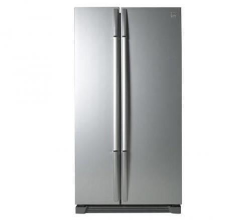 DAEWOO FRSU20IAI American-Style Fridge Freezer - Silver - WAS ...