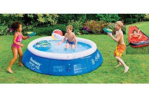8ft paddling pool with surf rider water guns beach ball. Black Bedroom Furniture Sets. Home Design Ideas