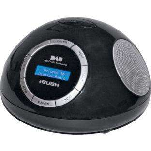 bush dab alarm clock radio black argos hotukdeals. Black Bedroom Furniture Sets. Home Design Ideas