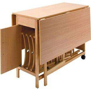butterfly table with fold away chairs homebase. Black Bedroom Furniture Sets. Home Design Ideas